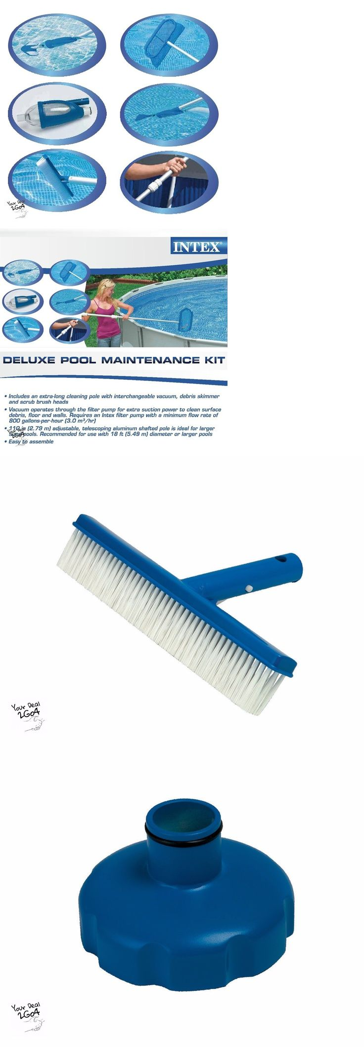 Other Pool Cleaning 181066: Swimming Pool Maintenance Kit Intex Cleaner Above Ground Supplies Deluxe New -> BUY IT NOW ONLY: $41.89 on eBay!