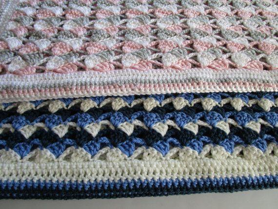 Easy Crochet Afghan Pattern Sideways Shells Tilted Shell