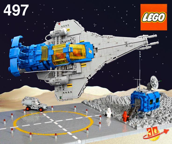 LEGO MOC | LL-497 box art #928 #classic #space