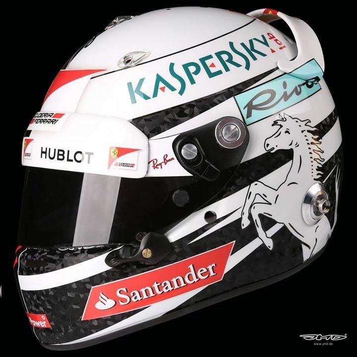 Vettel Helmet Design GP USA 2017. Made by JMD Design