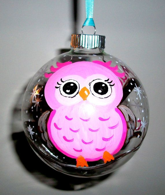 Baby's First Christmas Glass Ornament Hand Painted Glass ...