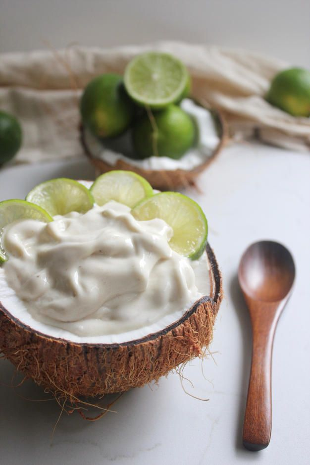 BANANA COCONUT LIME SORBET » it's feeling a lot like summer {vegan, plant-based, gluten free}