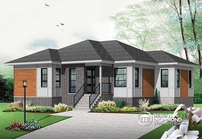 W3133 v2 mod le de maison contemporaine avec grand lot for Maison eplans