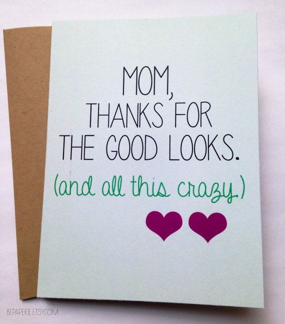 Snarky Mom Card Mothers Day Card Mom Birthday Card Funny Mom