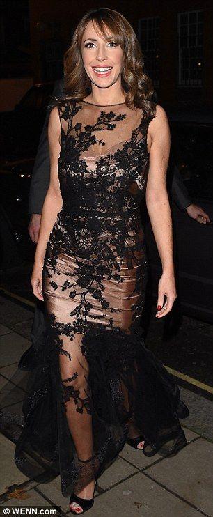 Alex Jones wears racy sheer black dress to Katie Piper Foundation Ball #dailymail