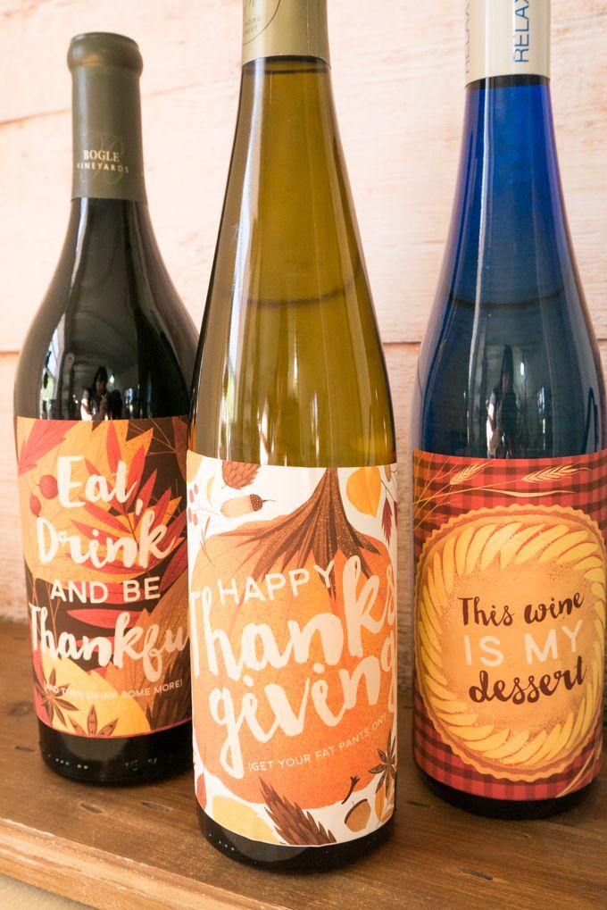 Funny Thanksgiving Wine Bottle Labels Printable Thanksgiving Wine Bottle Wine Bottle Wine Bottle Labels