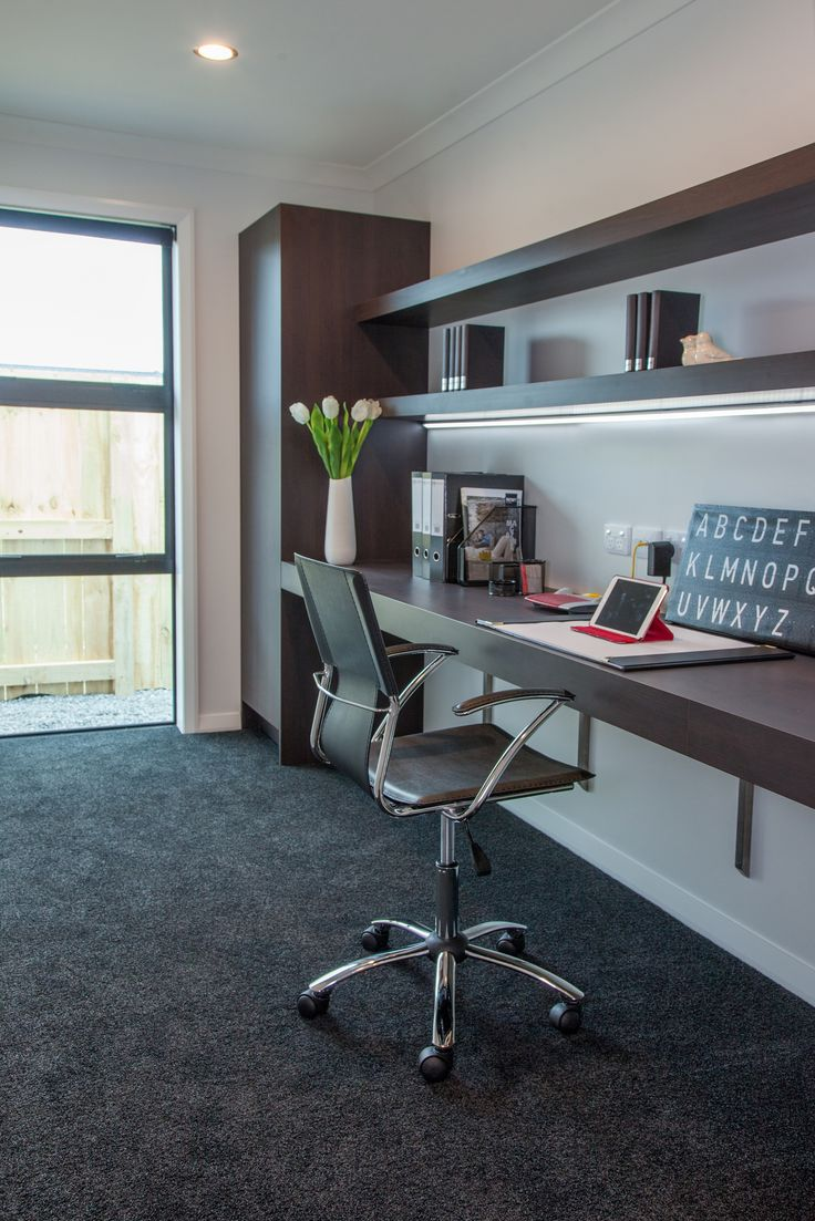 A  serious study space with modern looks, found in our Hamilton show home.