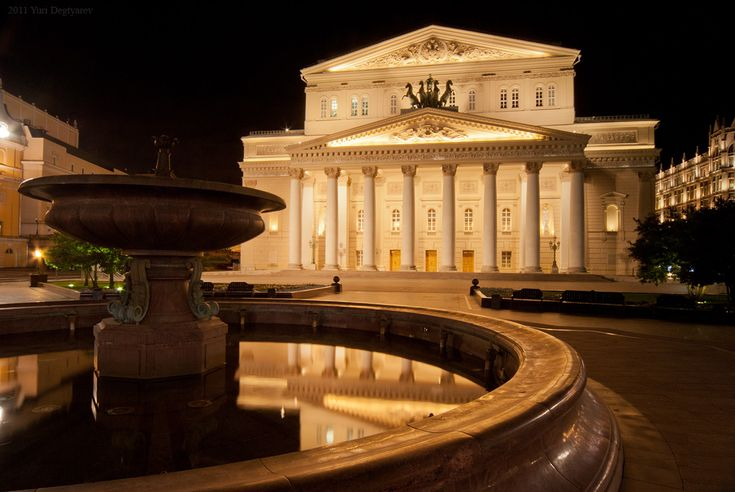 The Bolshoi Theatre is a historic theatre in Moscow, Russia, designed by architect Joseph Bové, which holds performances of ballet and opera. The theatre's original name was the Imperial Bolshoi Theatre of Moscow, while the St. Petersburg Bolshoi Theatre (demolished in 1886), was called the Im...