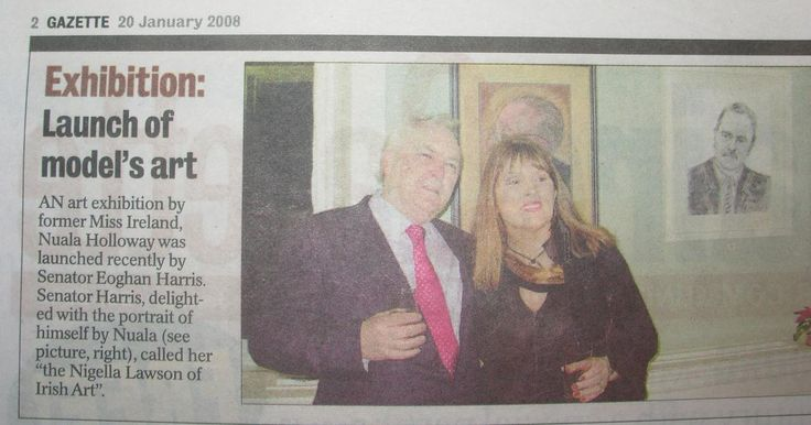 """FROM THE ARCHIVES: Regional coverage in the Dun Laoghaire Gazette from Nuala Holloway's 'Reflections' exhibition, held at Airfield House, Dundrum, Co. Dublin in December 2007 and launched by journalist and Senator Eoghan Harris who in his speech called Nuala """"the Nigella Lawson of Irish Art"""", referring to the """"sexiness"""" and """"energy"""" of her work."""