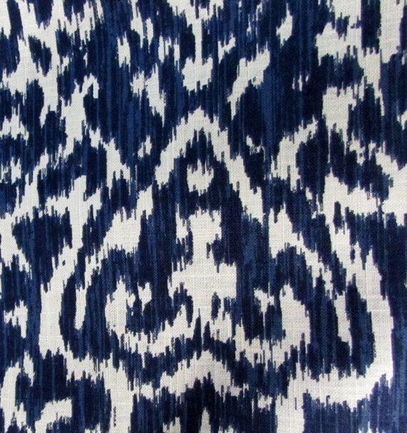 BEVERLY INDIGO On White Designer Multipurpose Home Decor Fabric