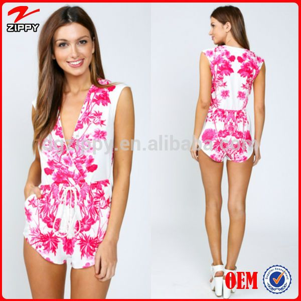 Women digital printed jumpsuits Australia style clothing fashion jumpsuits for women pants import china products