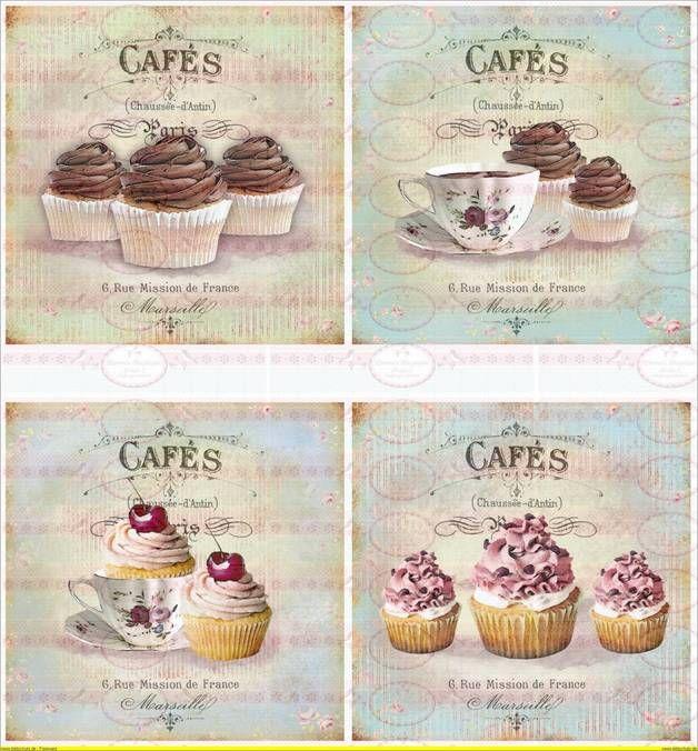 Bügelbild Cupcake Cafe french Paris 1460