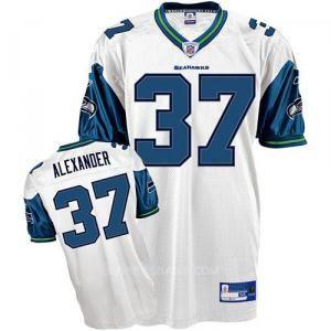 Reebok Seattle Seahawks Shaun Alexander 37 White Authentic Jerseys Sale