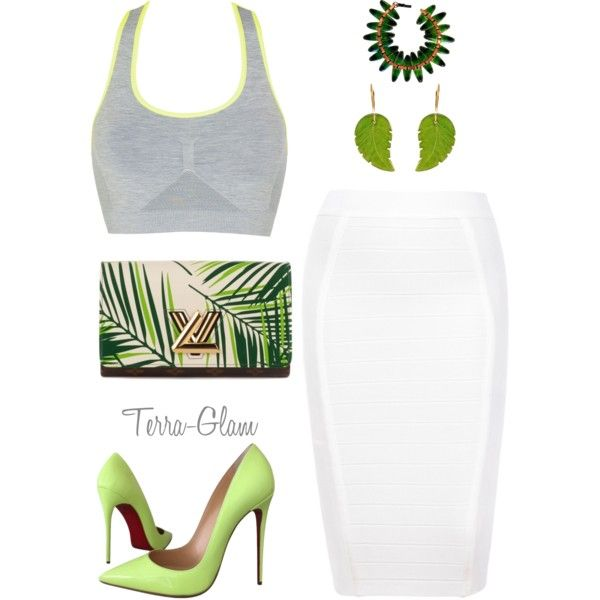 A fashion look from May 2016 featuring John Lewis activewear, Christian Louboutin pumps and Louis Vuitton handbags. Browse and shop related looks.