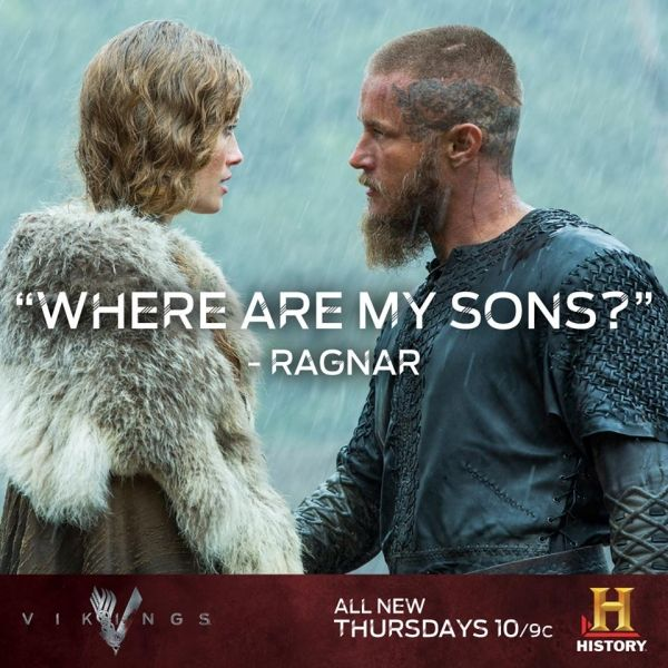 Travis Fimmel as Earl Ragnar Lothbrok & his wife - Vikings