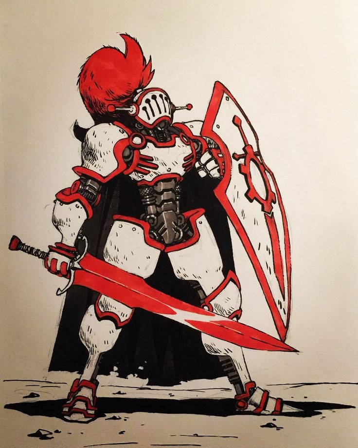 "2,017 Likes, 11 Comments - Artemii Myasnikov (@art_veider) on Instagram: ""Day 29 Red Knight #inktober2016 #inktober #art #artwork #artist #arts #comic #comics…"""
