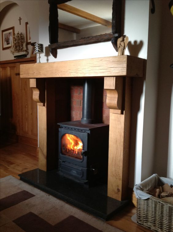 Traditional irish oak mantle fireplace surround Www.glenfort.com