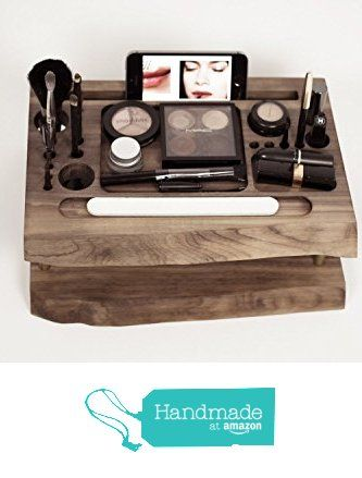 Makeup organizer, wooden makeup organizer, Wooden Makeup storage, beauty station, makeup brush holder from KRASEN DOM http://www.amazon.com/dp/B019INYUA0/ref=hnd_sw_r_pi_dp_FroWwb0ZG5V5J #handmadeatamazon