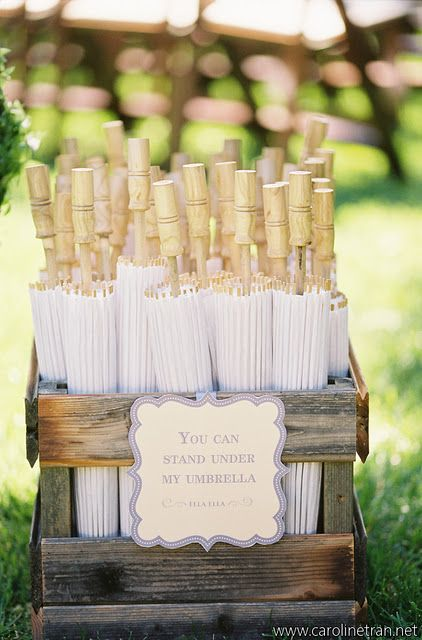 umbrellas, genius idea for an outside wedding in the hot sun