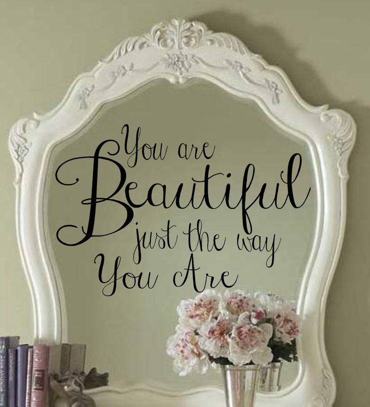 Vinyl Wall Decal You are Beautiful just the way you are Lettering Girls Decor  FREE SHIPPING visit my store for all the specials. $23.99, via Etsy.