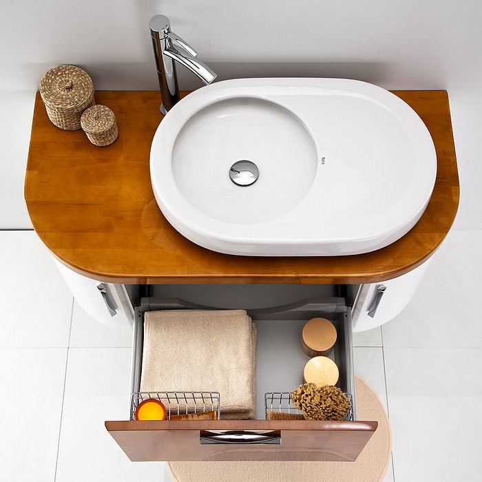 Linea Blanca collection - wooden bathroom furniture / łazienka umywalka #bathroom #furniture #wood #washbasin #umywalka