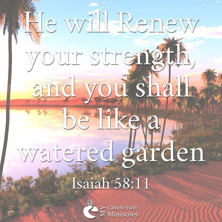Isaiah 5811 Catholic faith, Catholic, Isaiah
