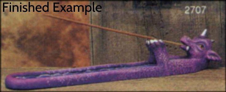 Dragon Incense Burner Unpainted Ceramic Bisque PYOP | eBay
