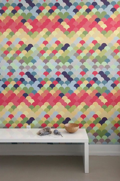 Fishwall Pattern Wall Tile Decals by Blik. #walldecal #fishscale