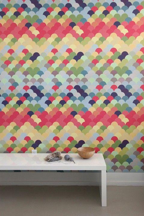 Fishwall ~ Pattern Wall Tiles  Backsplash!: Ideas, Color, Wall Decals, Wallpaper, Wall Tiles, Fishwall Pattern, Pattern Wall, Accent Wall