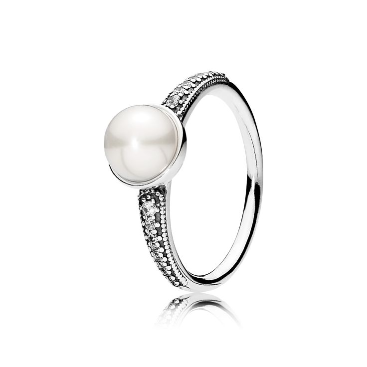 Could something be any more perfect and elegant?? PANDORA | Elegant Beauty, White Pearl & Clear CZ