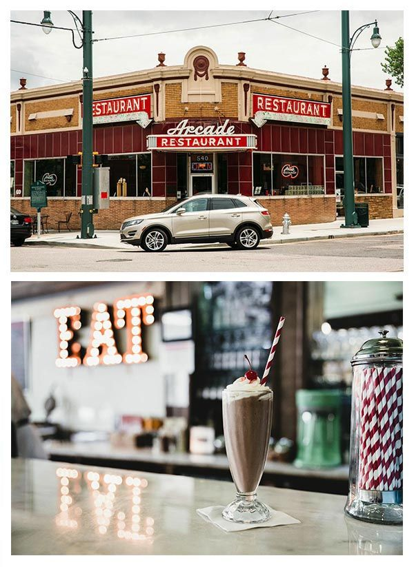 Arcade Restaurant is the oldest operating store front in Memphis, Tennessee. It's also home of the thickest, most painstakingly prepared milkshakes you'll ever see. While you're there, be sure to order their famous fried peanut butter and banana sandwich--the favorite of a certain local King