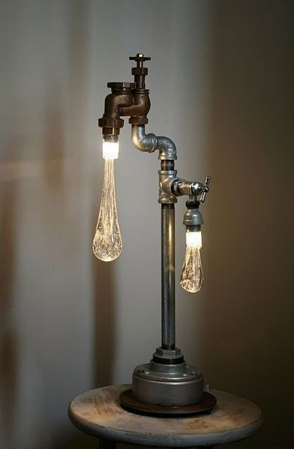This lamp from an old faucet. I would buy it I'm a second if I knew where!