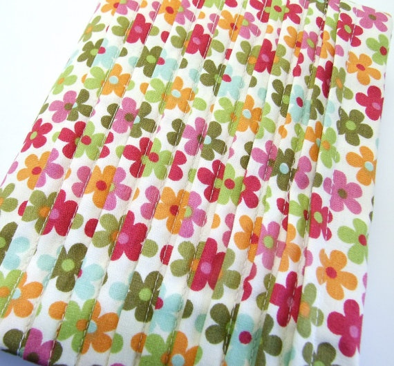 Multi Coloured Pleated Floral Re Usable Visual by iheartcharlie, $35.00