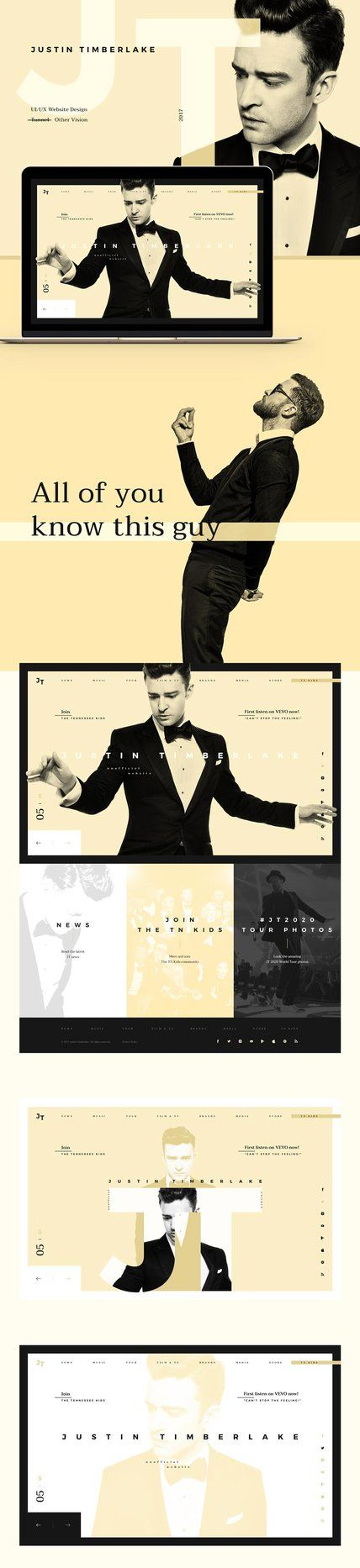 Justin Timberlake Website - Behance #ui #ux #userexperience #website #webdesign #design