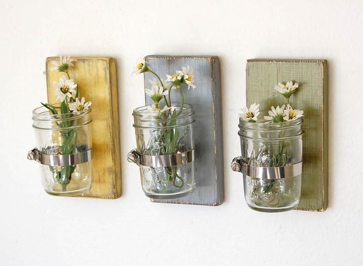 Pick wildflowers and hang them on the wall