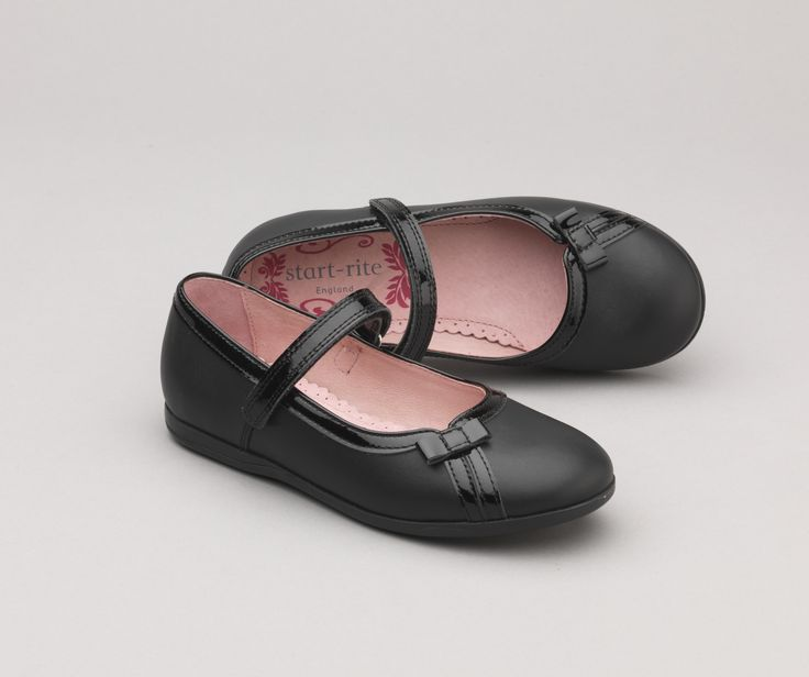 Claudia - pretty bow design Start-rite girls school shoes. http://www.startriteshoes.com/girls-shoes/school-shoes/claudia-black-girls-riptape-non-school-shoes-23950