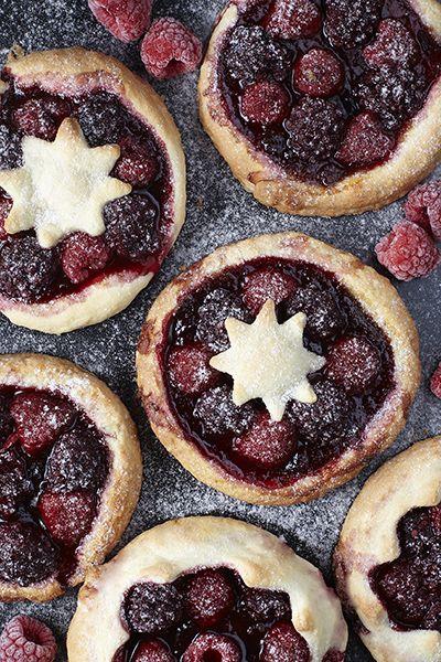 raspberry danishes, kruche ciastka z malinami