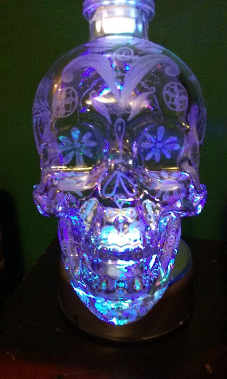 crystal head vodka hand engraved sugar skull inspired