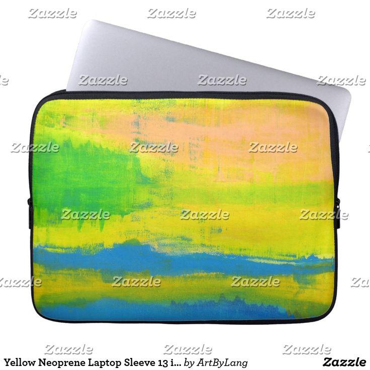 "Yellow Neoprene Laptop Sleeve 13 inch ""Sunny Day"""