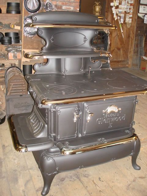 This looks just like my grandmother's wood burning kitchen stove. There was  a large grate in the ceiling above to help heat the upstairs rooms (which  we ... - 34 Best Images About Vintage On Pinterest Wood Stove Parts