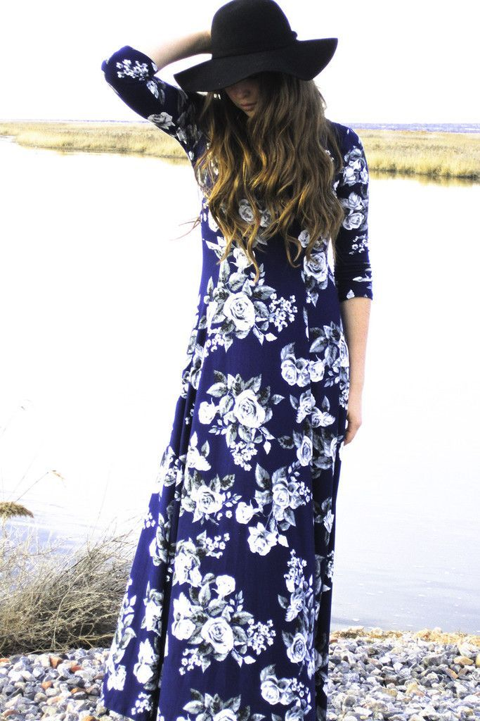 f f floral maxi dress sleeves