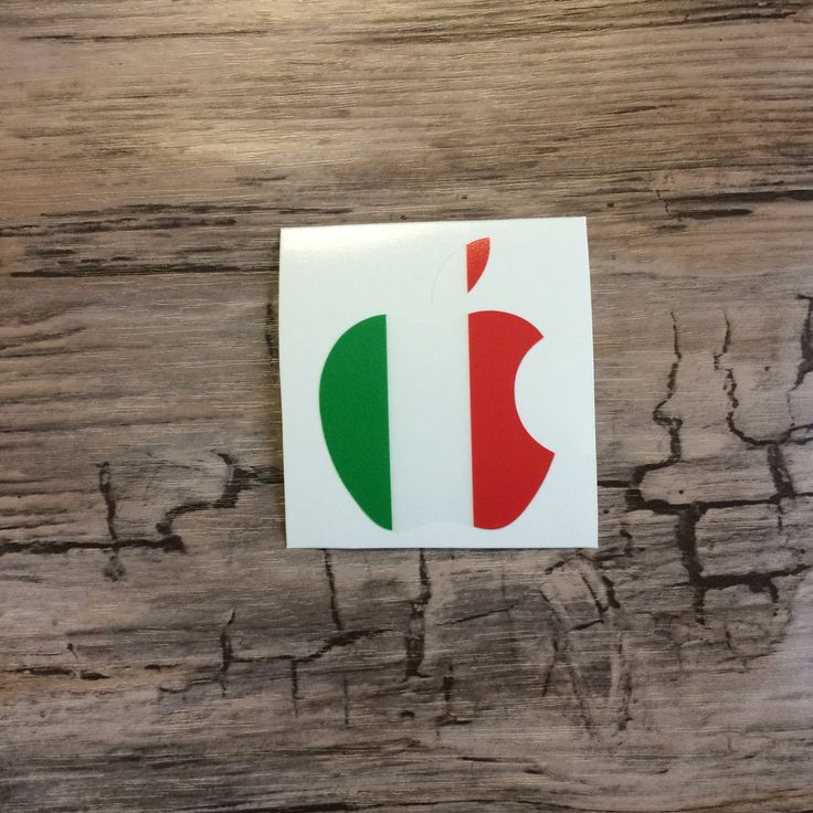 Apple flag of italy macbook sticker