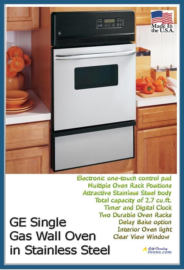 Ge Jgrp20senss 24 Gas Single Wall Oven Self Cleaning Gas Wall
