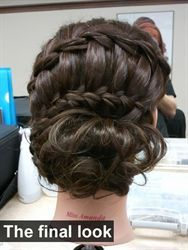 Hair by - Erica Arroyo   - How to - Waterfall braid updo