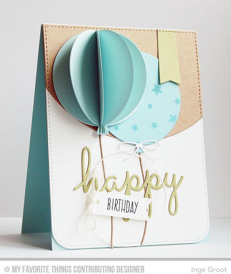 Объемные открытки на день рождения своими руками с шариками