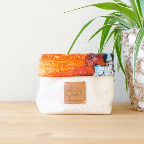 Soft Fabric Basket Storage Organizer Bucket Soft Pot Container