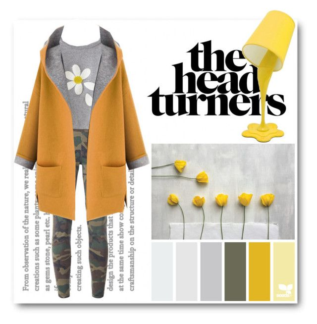 """Yellow & Grey"" by deeppurplesea on Polyvore featuring Faith Connexion, WithChic and LumiSource"