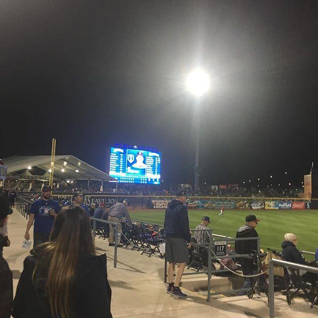Great crowd out @peoriasportscom tonight! Full slate tomorrow! @cubs vs @dbacks 1:10 @saltriverfields @rockies vs @angels 1:10 Tempe Diablo and @athletics vs @padres 1:10 @peoriasportscom find @cactus_corn here!