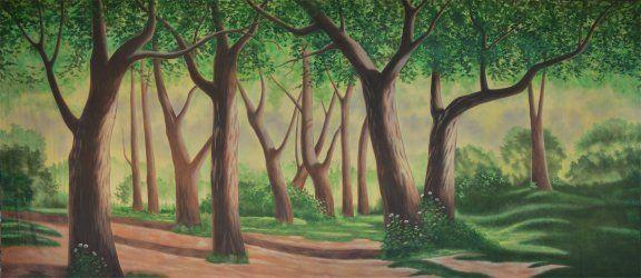 Forest Landscape Backdrop Shrek The Musical Pinterest