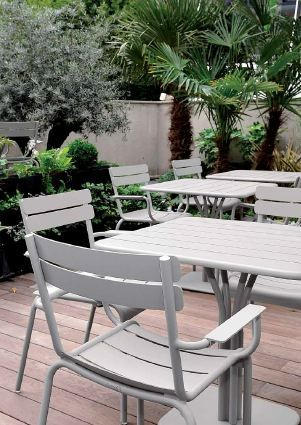 Fermob - Luxembourg - chair - armchair - outdoor - terrace - furniture - grey